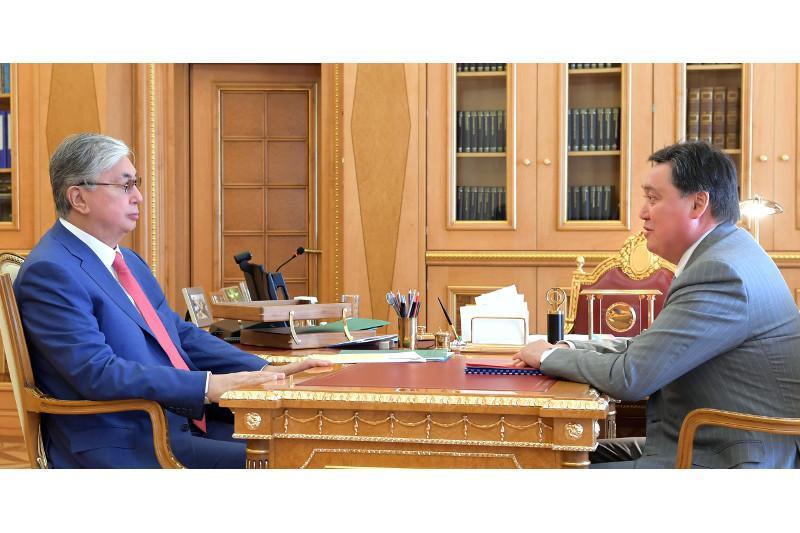 托卡耶夫总统接见政府总理