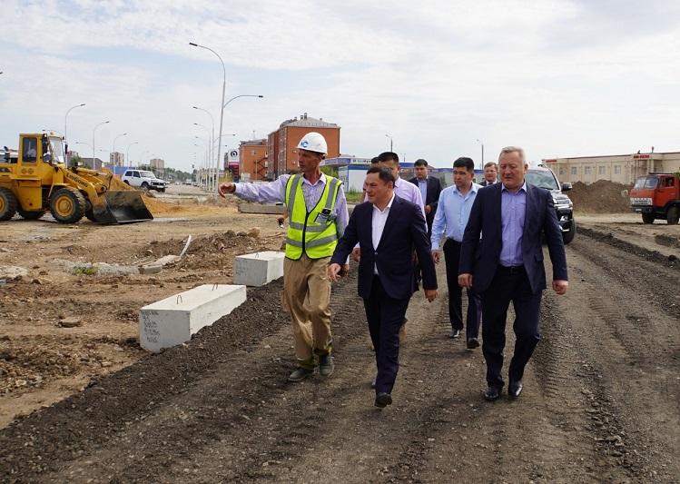 Ермек Маржикпаев ознакомился с ходом строительства значимых объектов Кокшетау