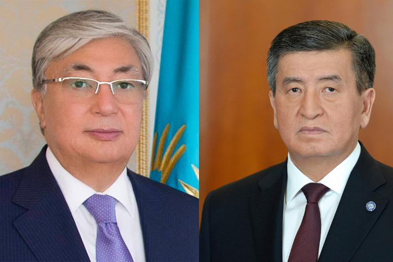 托卡耶夫总统与吉尔吉斯斯坦总统通电话