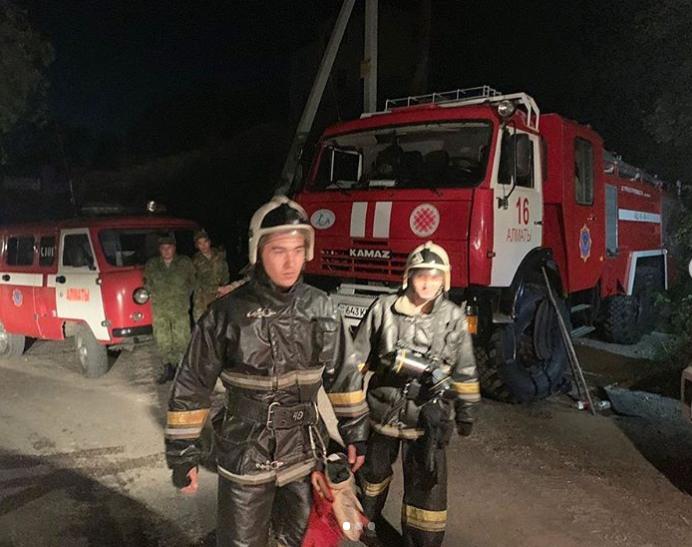 Алматыдағы өрт бойынша қылмыстық іс қозғалады: Сағынтаев оқиға орнына барды