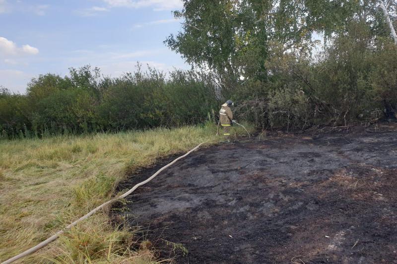 Двое суток тушили пожар в Акмолинской области