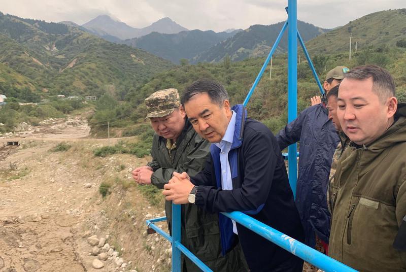 Бакытжан Сагинтаев выехал на место угрозы схода селя в Алматы