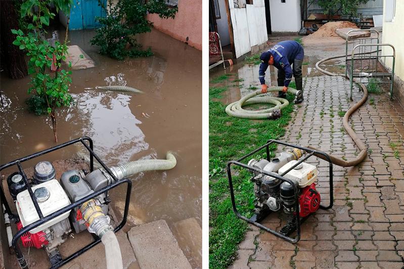 Частные дома, подвалы и транспортные развязки подтопило дождем в Алматы