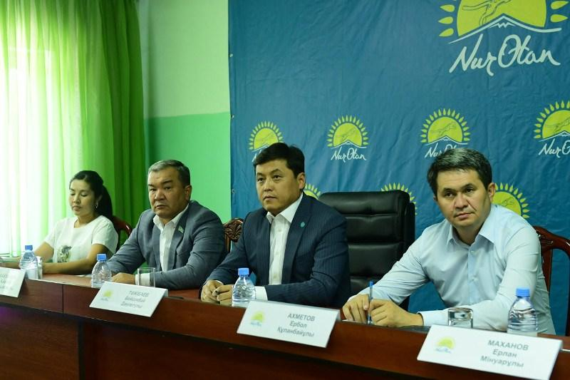 Вопросы строительных работ в Арыси будут на контроле партии «Nur Otan»