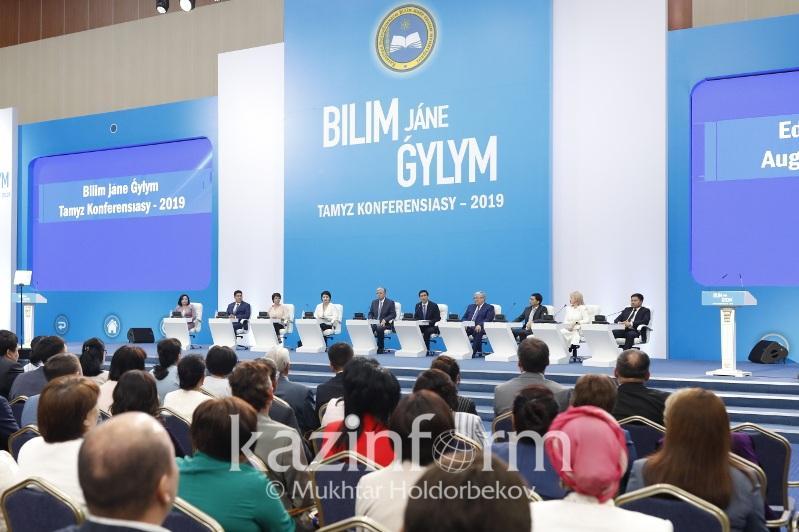 Kazakh President attends  Teachers' August Conference plenary sitting