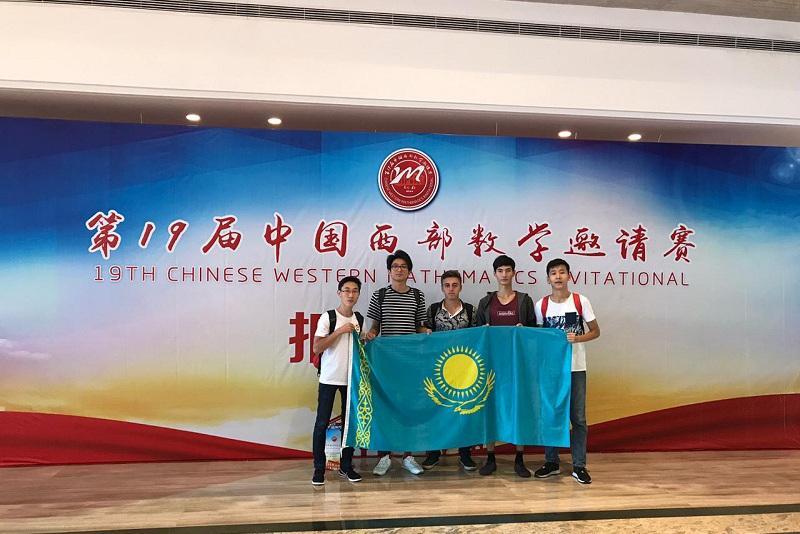 哈萨克斯坦学生在中国西部数学邀请赛中荣获2金2银