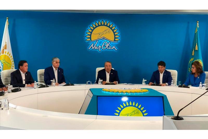Под председательством Елбасы началось заседание Бюро Политсовета партии Nur Otan