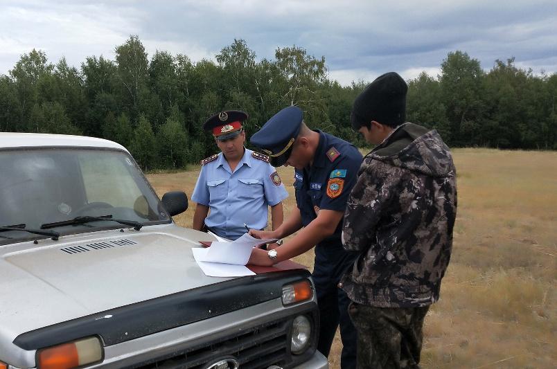 Житель Акмолинской области стал виновником степного пожара