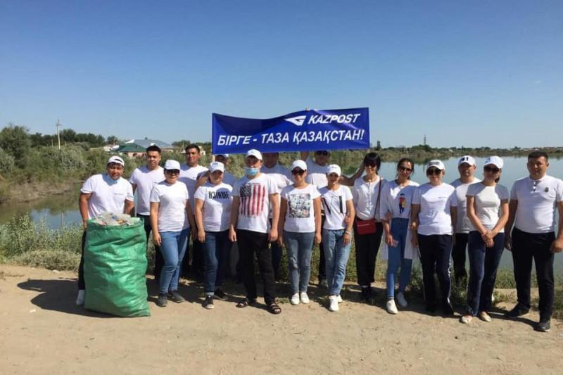 KazPost employees collected 43 tonnes of waste under #TazaQazaqstan campaign