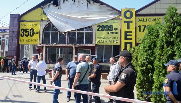 Украинада өртенген қонақ үйде 9 адам мерт болды