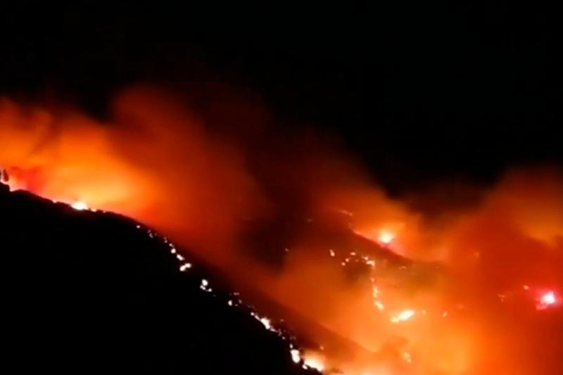 2,000 inhabitants evacuated as wildfire rages in Spain's Canary Islands