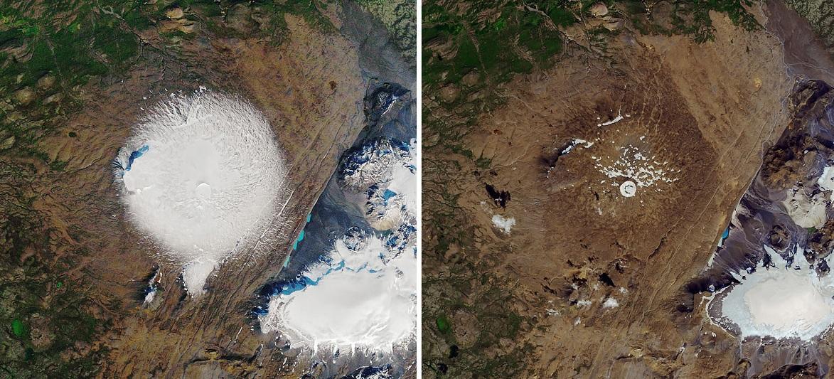 冰岛立碑纪念因气候变化消融的冰川