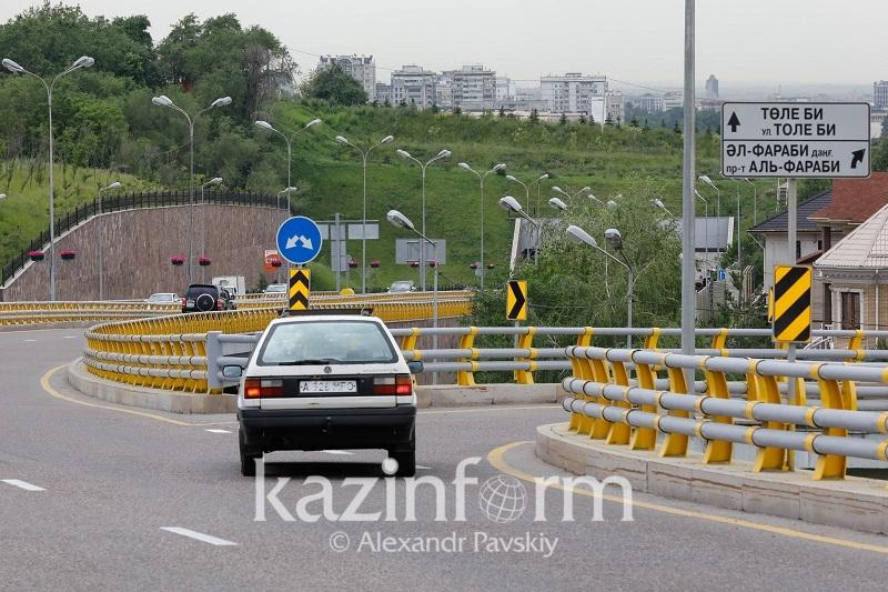 Алматының әл-Фараби даңғылына 80 км/сағ жылдамдық қайтарылды