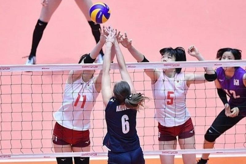 Казахстан уступил Японии на женском ЧА по волейболу