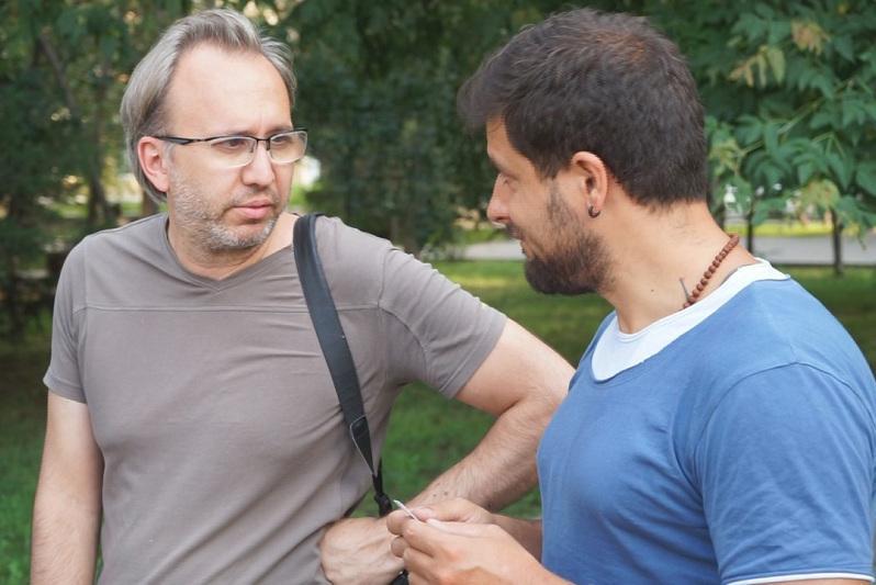 Итальянские журналисты снимают документальный фильм в Семее