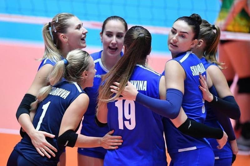Казахстан одержал вторую победу на женском ЧА по волейболу