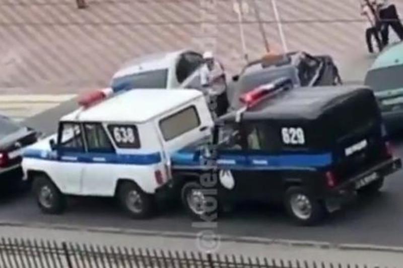В Павлодаре попали в ДТП два полицейских автомобиля