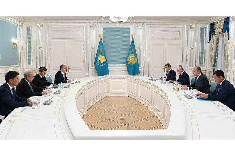 托卡耶夫总统会见中亚各国外交部部长