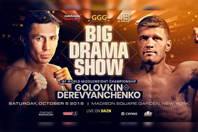 DAZN makes official announcement of Golovkin-Derevyanchenko fight