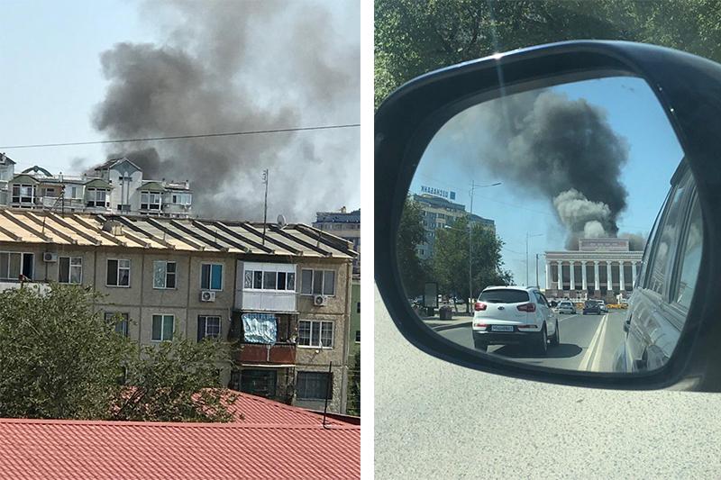 В Атырау назвали причину пожара в драмтеатре