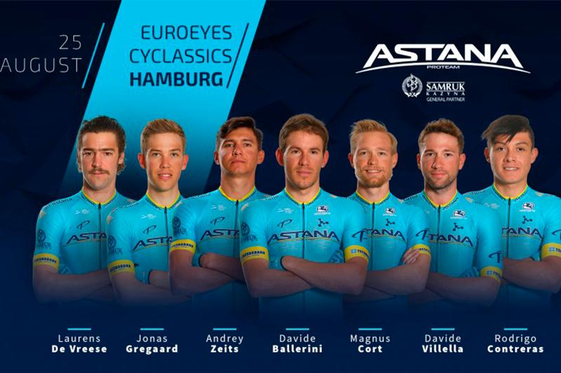 Astana Pro Team announces roster for EuroEyes Cyclassics Hamburg 2019