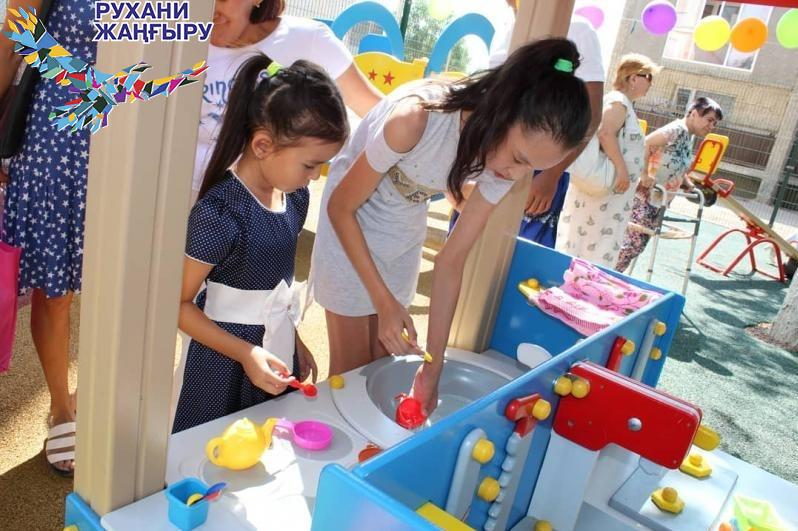 Игровую площадку для особенных детей оборудовали в Балхаше