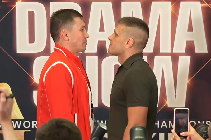 职业拳击:戈洛夫金与德列维奇杨科首次面对面