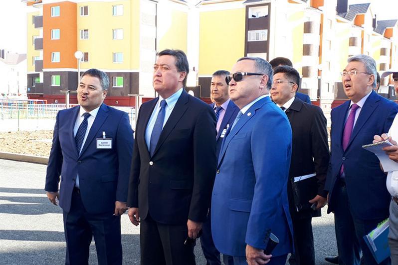 Kazakh PM arrives in Aktobe rgn