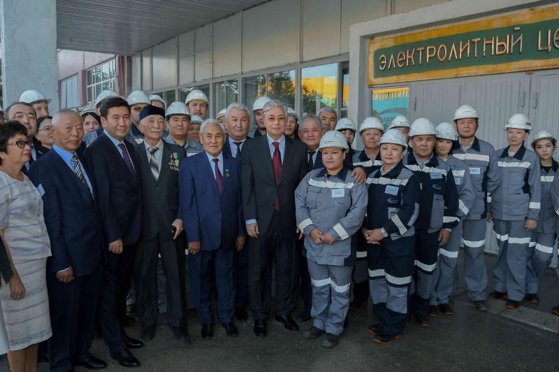 Глава государства посетил Жезказганский медеплавильный завод