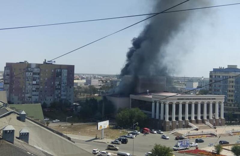 По факту пожара в драмтеатре в Атырау возбуждено уголовное дело