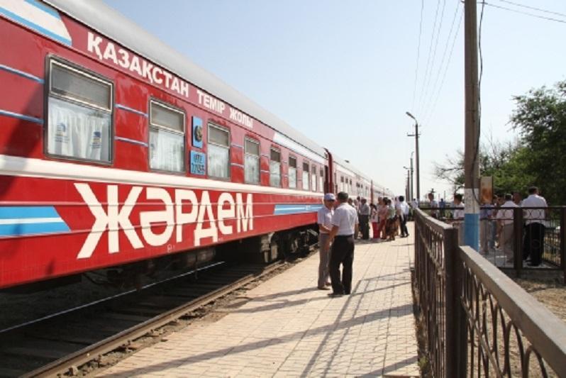 Еще один медицинский поезд «Жәрдем» запустили в Казахстане
