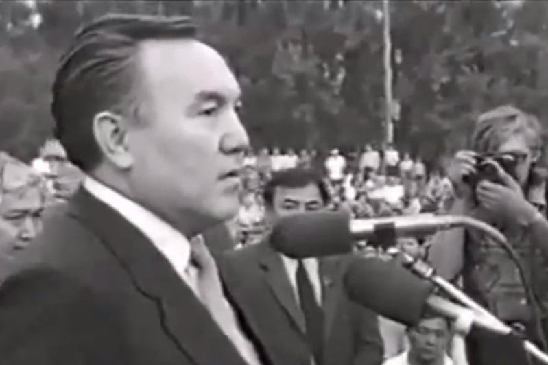 Нұрсұлтан Назарбаевтың шахтерлар алдында сөйлеген архивтік видеосы жарияланды