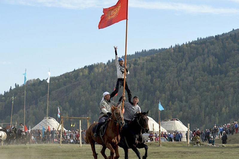 吉尔吉斯将举办游全国游牧民族传统运动会
