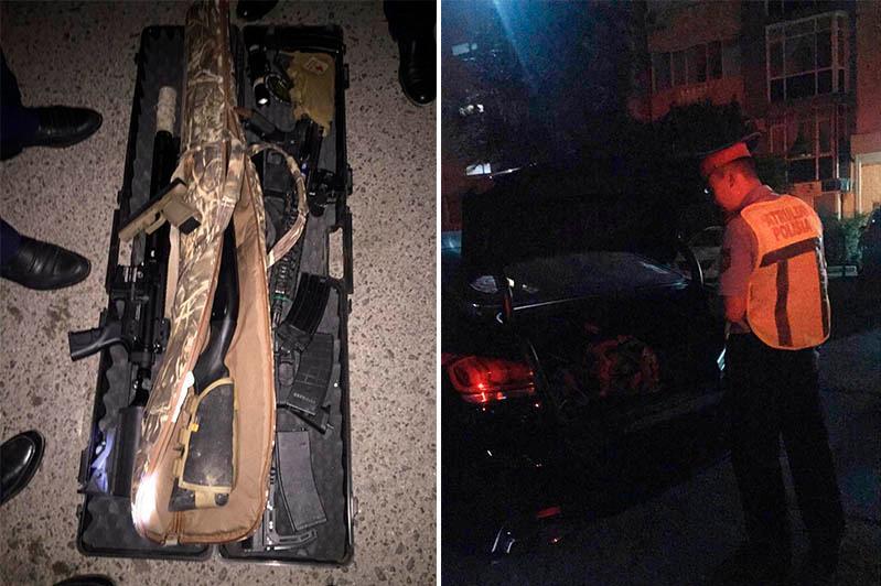 Оружие обнаружили в открытом багажнике машины в Атырау