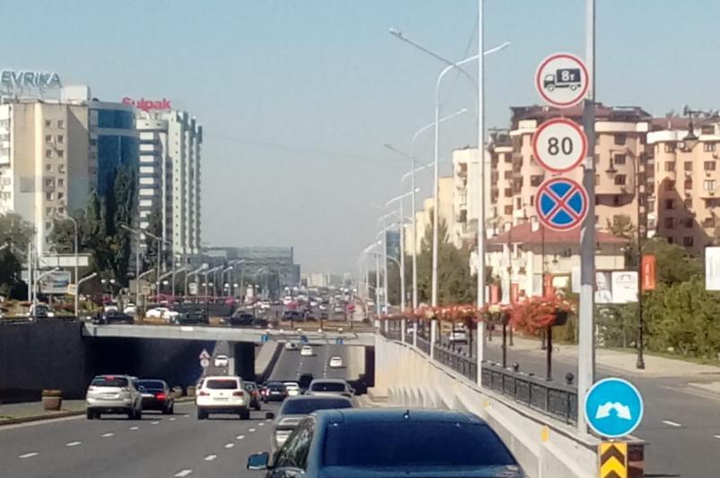 Новый скоростной режим на проспекте аль-Фараби и ВОАД будет действовать  с полуночи