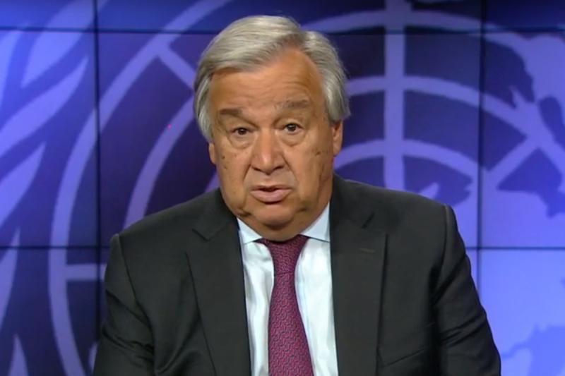 """联合国秘书长就""""纳扎尔巴耶夫奖项""""发表视频讲话"""