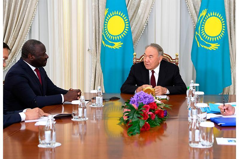 Nursultan Nazarbayev, Lassina Zerbo have talks