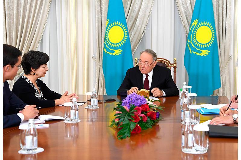 Nazarbayev, Mary Alice Hayward praise fruitful cooperation between Kazakhstan, IAEA