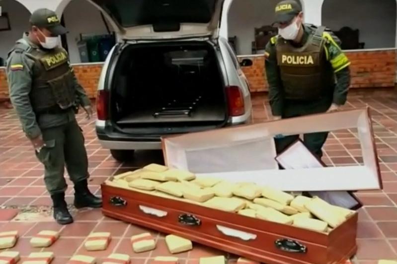 哥伦比亚警方破获特大毒品案