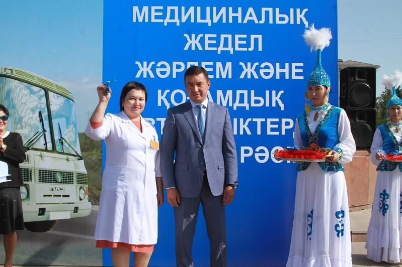 Жамбыл облысында дәрігерлерге 36 жедел жәрдем көлігі берілді