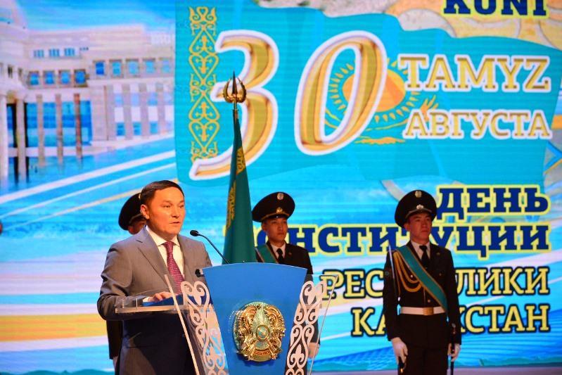 В Кокшетау прошло торжественное собрание ко Дню Конституции