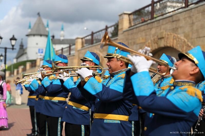 """哈萨克斯坦近卫军军乐团参加""""斯巴斯克塔""""国际军乐节"""