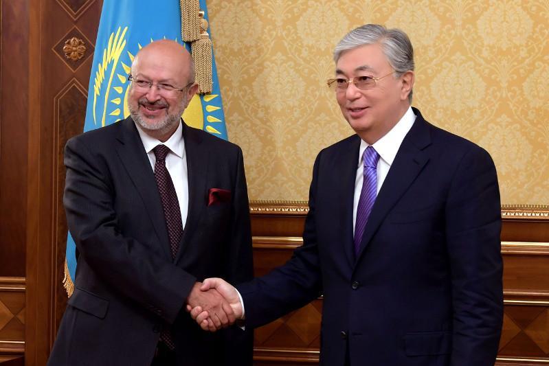 托卡耶夫总统会见欧安组织高级专员
