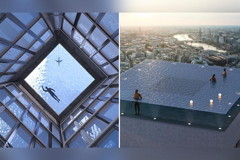 Лондонда 360 градус бейнелі бассейн ашылмақ