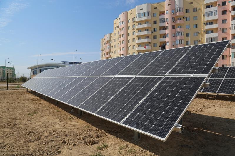 Ақтаудағы мектепте күн электр стансасы іске қосылды