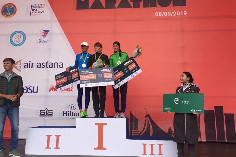 Астана марафонының жеңiмпазына 1 млн теңге табысталды