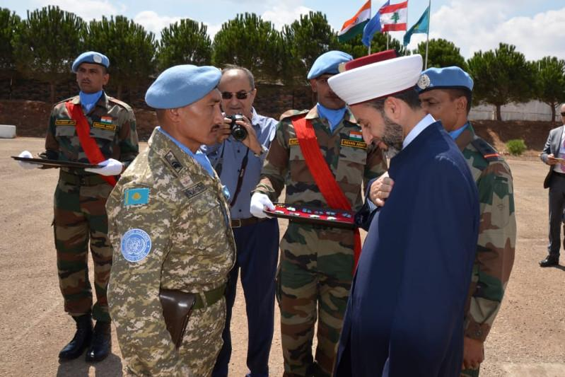 哈萨克斯坦驻黎巴嫩维和部队荣获联合国勋章