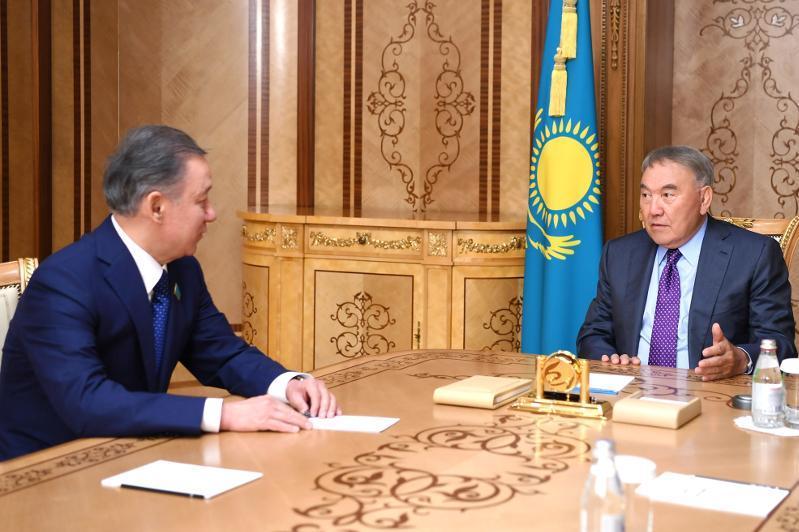 努尔苏丹·纳扎尔巴耶夫接见努尔兰·尼格马图林