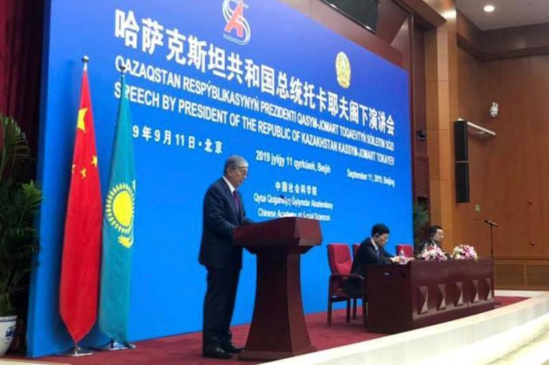 托卡耶夫总统在北京出席多项活动并发表演讲