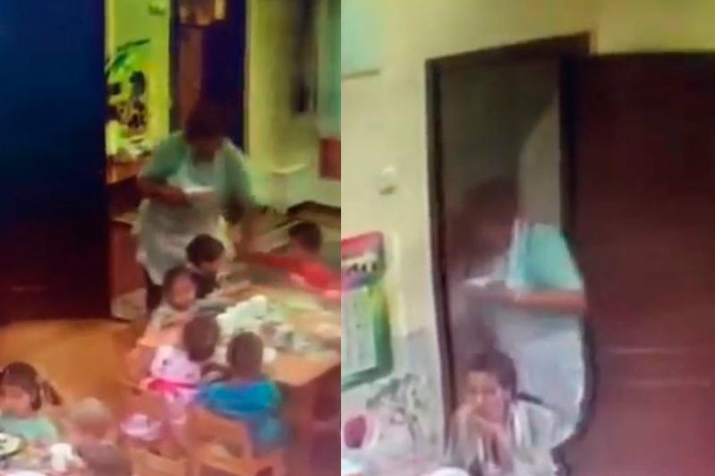 Алматыда балаға қол көтерген тәрбиешінің әрекеті видеоға түсіп қалды
